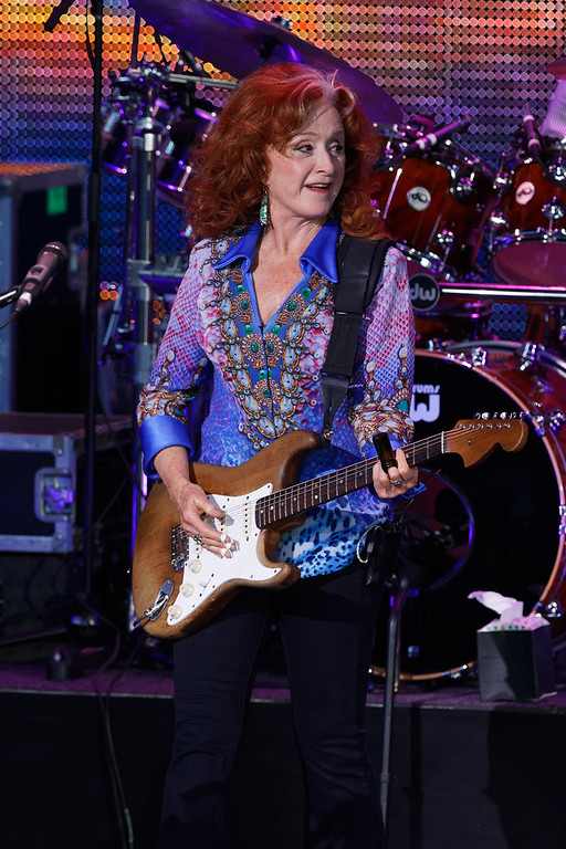 . Bonnie Raitt live at DTE Music Theatre on 8-8-17.  Photo credit: Ken Settle
