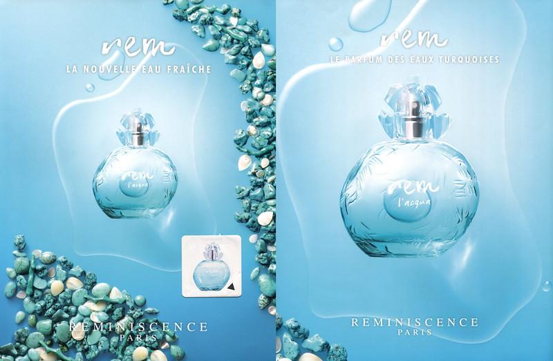 REMINISCENCE Rem 2016 France (recto-verso with scent sticker) 'La novelle eau fraîche - Le parfum des eaux turquoises'