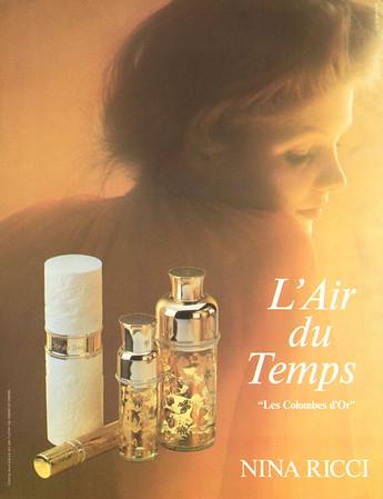 NINA RICCI L'Air du Temps 'Les Colombes d'Or' 1986 Spain 'Venta exclusuva en perfumerías especializadas'