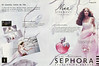 NINA RICCI Nina Eau de Toilette 2006 France spread (Sephora stores) 'Un nouveau conte de fée... Le flacon de la tentation - le nouveau parfum magique - Le parfum merveilleux'