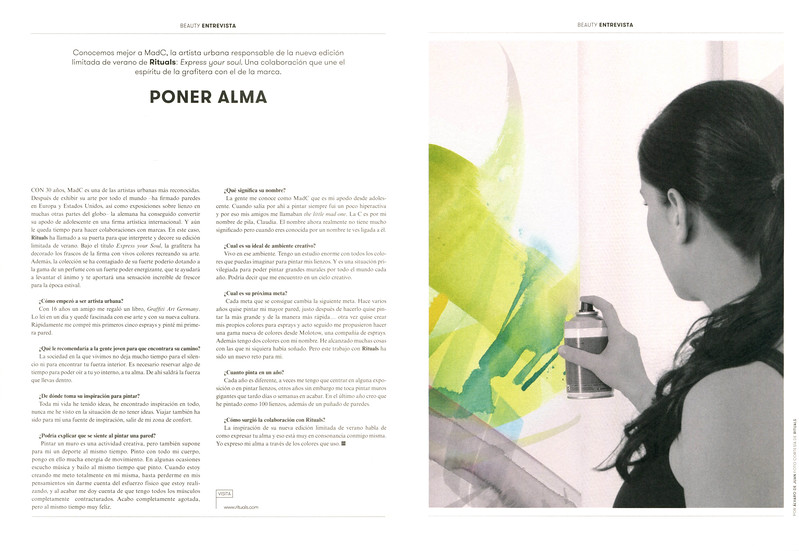 RITUALS Express Your Soul Limited Edition 2017 Spain spread (feature L'Officiel) 'Poner alma'