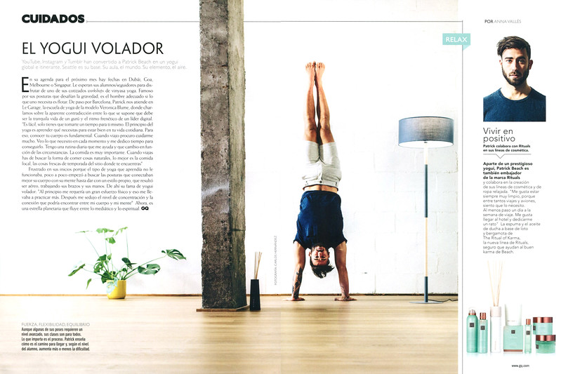 RITUALS The Ritual of Karma spread (advertorial GQ) 'El yogui volador'