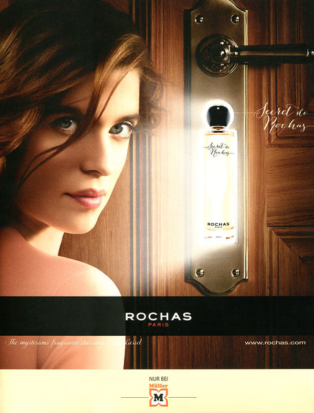 Secret de ROCHAS 2015 Germany (Müller stores) format Grazia <br /> 'The mysterious fragrance starring Cécile Cassel'