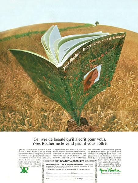 YVES ROCHER Diverse 1968 France 'Le petit livre vert de la beauté'