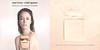 NARCISO RODRIGUEZ Narciso Eau de Parfum Poudrée 2016 Germany (recto-verso perfumed card 8,5 x 8,5 cm 'New Eau de Parfum Poudrée - Über die Karte streichen und Duft erleben'