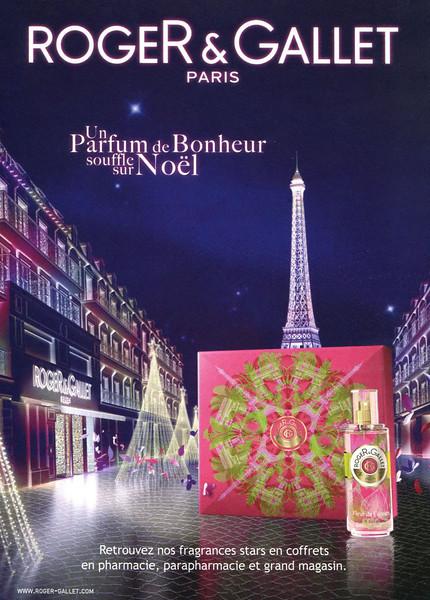 ROGER & GALLET Fleur de Figuier - Diverse 2014 France (format 17 x 24 cm) 'Un parfum de bonheur souffle sur Noël'