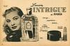 RYGREN Intrigue 1955 Argentina half page  'Intriga - Sugestiona - Seduce'