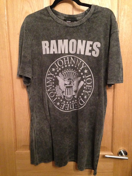 Ramones, 2017. This one was actually bought on the high street rather than in a record store or online but it's an authentic one, as it has the '1-2-3-4' official label image inside, behind the neck. Absolute design classic.