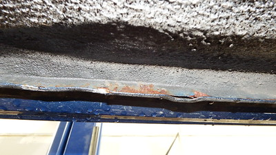 surface rust on sill