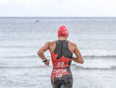Katharine Wilson (Carter) starting the second lap of the swim course.