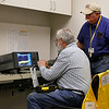 Rob and Jerry at the spectrum analyzer