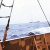 View from the tender as we approached the ship........ was interesting jumping between the two in rough weather!