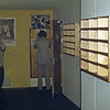 Dick Heuf looking into the Transmitter room...... and Bob Noakes