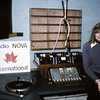 Me in the RNI studio....... The ship was impounded and Radio Nova never happened....
