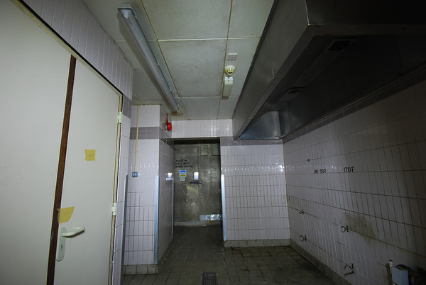Airtight sealed door and a fridge to the left