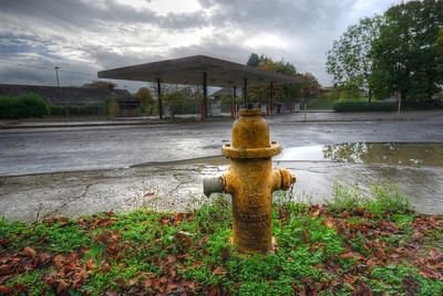 RAF Upper Heyford Petrol Station 2013.