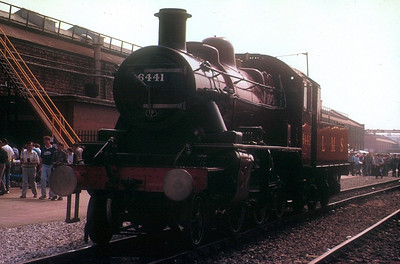 LMS Ivatt 2-6-0 46441 at Crewe Works open day, 21st July 1990.