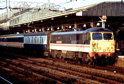 Unidentified Class 87 in InterCity livery heading an up express at Crew. Date unknown.
