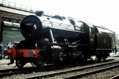 LMS Stanier 8F 2-8-0 48151 at Crewe Works open day, 21st July 1990.