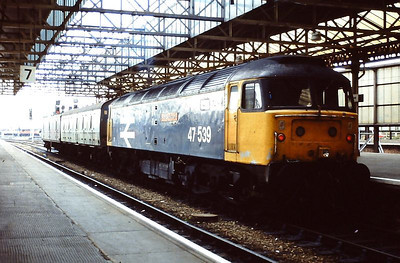 Large logo 47539 in the south bay at Crewe, June 1992.