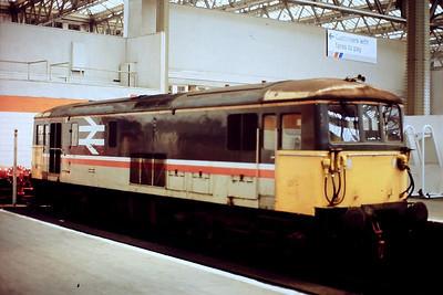 Electro-diesel 73106 at the blocks at Waterloo. Undated.