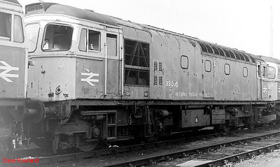 33005 is seen withdrawn at Salisbury on 10th September 1990.
