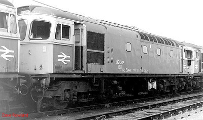 33062 stands in line with other withdrawn 'Cromptons' at Salisbury on 10th September 1990.