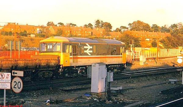73114 passes through Basingstoke with a departmental working. Possibly 1988.