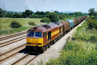 60 004 - Brush Class 60 Type 5 Co-Co DE - built 06/91 by Brush Traction - 11/09 to store at Toton - seen here at Marshfield.