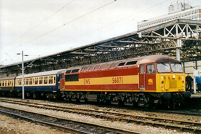 56 071 - BR Class 56 Type 5 Co-Co DE - built 12/79 by Doncaster Works - withdrawn 11/06 - seen here at Crewe on a Railtour.