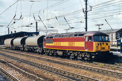 56 051 - BR Class 56 Type 5 Co-Co DE - built 11/78 by Doncaster Works - withdrawn 10/06 - seen here at Doncaster.