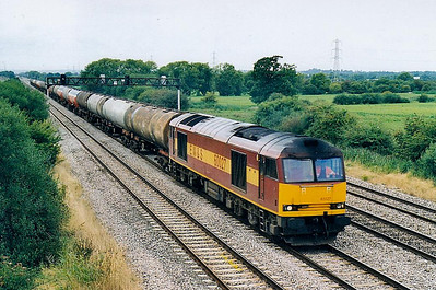 60 027 - Brush Class 60 Type 5 Co-Co DE - built 02/91 by Brush Traction - 02/09 to store at Toton - seen here at Marshfield