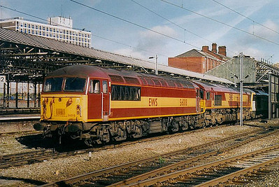 56 018 - BR Class 56 Type 5 Co-Co DE - built 08/77 by Electroputere, Romania - withdrawn 01/07 - seen here at Crewe.