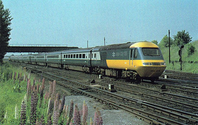 HST set 254 026 passes Dringhouses Yard, 06/79.
