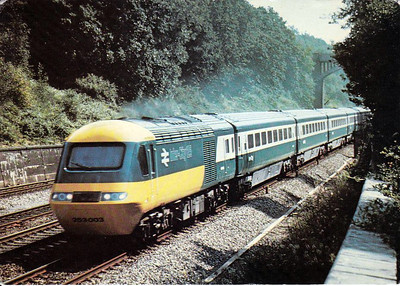 HST set 253 003 seen on the Western Region shortly after their introduction in October 1976.