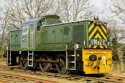 BRITISH STEEL CORPORATION, Corby - 45 - BR Class 14 0-6-0DM - built 1964 by Swindon Works as D9520 - 04/68 withdrawn and sold to BSC - withdrawn 1981 - preserved - seen here at Rutland Railway Museum.