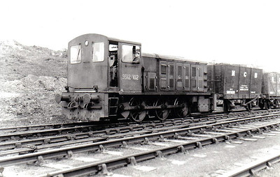 NATIONAL COAL BOARD, Ashington Colliery - 9312/102 - 0-6-0DM built 1959 by North British Loco Co., Works No.27766 - seen here in 1965.
