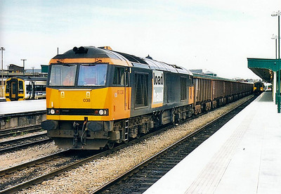 60038 - Brush Class 60 Type 5 Co-Co DE - built 03/91 by Brush Traction - 12/08 to store at Toton - seen here at Cardiff.