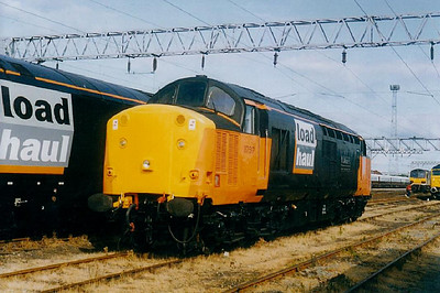 37 517 - EE Class 37 Type 3 Co-Co DE - built 06/61 by English Electric as D6718 - 1973 to 37 018, 04/87 to 37 517 - withdrawn 01/05 - stored at Carnforth.
