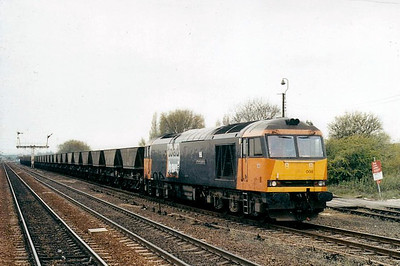 60008 - Brush Class 60 Type 5 Co-Co DE - built 12/92 by Brush Traction - 06/07 to store at Toton - seen here at Barnetby.