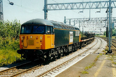56 112 - BR Class 56 Type 5 Co-Co DE - built 11/82 by Doncaster Works - withdrawn 01/03 - seen here at Etruria.