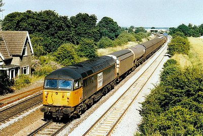 56 027 - BR Class 56 Type 5 Co-Co DE - built 09/77 by Electroputere, Romania - withdrawn 03/03 - seen here at Melton Ross.