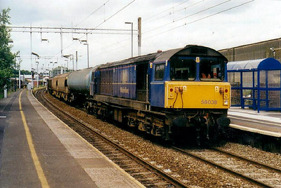 58 038 - BR Class 58 Type 5 Co-Co DE - built 03/86 by Doncaster Works - 05/05 to Netherlands - 07/09 to France - seen here at Longport.