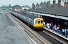 Class 101 - 53203 - leads two 2-car sets into Spalding Station on a Lincoln - Peterborough train - must be Saturday morning!