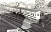 Class 101 - 4-car DMU built by Metro Cammell from 1956 in 2, 3 & 4-car configurations most 4-car units were used in Yorkshire - last units withdrawn in 2003 - seen here leaving York on a Scarborough train in the white/blue livery used in the 1970's to denote an internally refurbished set.