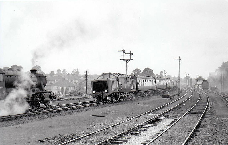 10100 - BR/Fell 2-D-2 DM - built 1952 by Derby Works - withdrawn 11/58 - seen here at Kettering in 1952.