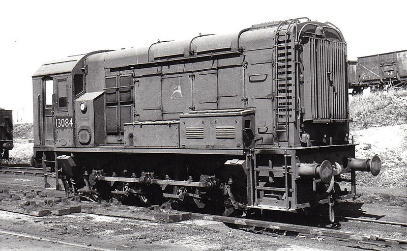 Class 08 13084 - BR/EE 0-6-0DE Shunter - built 10/54 by Derby Works - 1957 to D3084, 1973 to 08 069 - withdrawn 02/83 from Carlisle Kingmoor TMD.