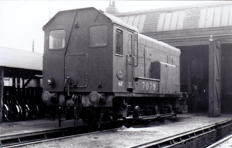 7079 - Hawthorn Leslie/EE 0-6-0 DE Shunter - built 0434 by Derby Works for LMS - 1948 to BR No.12002 - withdrawn 08/56 from 5B Crewe South.