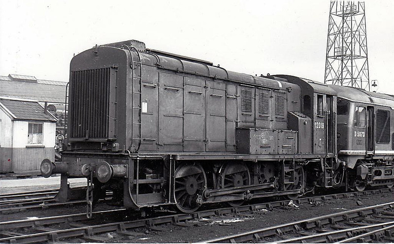 12019 - LMS/EE 0-6-0DE Shunter - built 1940 by Derby Works as LMS No.7096 - 1948 to 12031 - withdrawn 10/67.