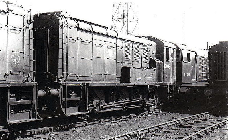 12003 - LMS/EE 0-6-0DE Shunter - built 1939 by Derby Works as LMS No.7080 - 1948 to 12003 - withdrawn 11/67.